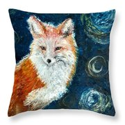 Fox Red  Painting  Throw Pillow