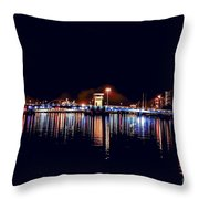 Fox River Green Bay At Night Throw Pillow