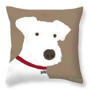 Fox Terrier Throw Pillow
