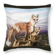 Foxes   Fundamental Foresight Foundation  Throw Pillow