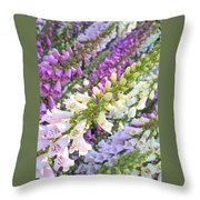 Foxglove Card Throw Pillow