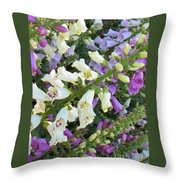 Foxglove Fancy Throw Pillow