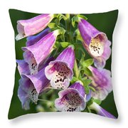 Foxglove For Artemis Throw Pillow