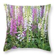 Foxglove Garden - Vertical Throw Pillow