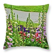 Foxglove In Front Of Conservatory In Golden Gate Park In San Francisco, California  Throw Pillow