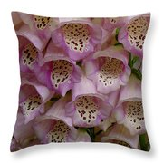 Foxglove Upclose Throw Pillow