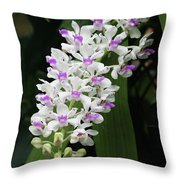 Foxtail Orchid Throw Pillow