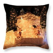 Foxy Christmas Decoration Throw Pillow