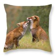 Foxy Love- Kiss Throw Pillow