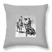 Fr 043 Third Cavalry Trooper Searching A Suspected Revolutionist Fredericremington Sqs Frederick Remington Throw Pillow