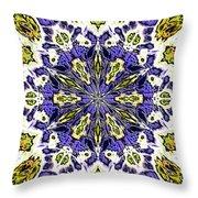 Fractal 9 Throw Pillow