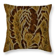 Fractal Abstract Scorpion Throw Pillow