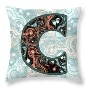 Fractal - Alphabet - C Is For Complexity Throw Pillow
