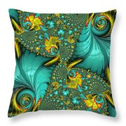 Fractal Art - Gifts From The Sea By H H Photography Of Florida Throw Pillow