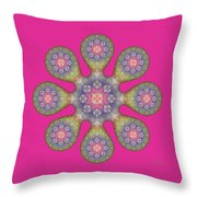 Fractal Blossom 1 Throw Pillow