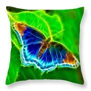 Fractal Butterfly Throw Pillow