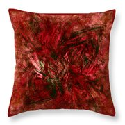 Fractal Christmas Bow Throw Pillow