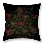 Fractal Christmasbouquet  Throw Pillow
