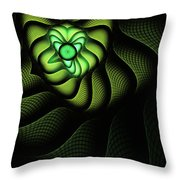 Fractal Cobra Throw Pillow by John Edwards