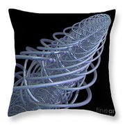 Fractal Comet Throw Pillow