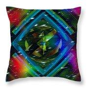 Fractal Cool Throw Pillow
