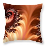 Fractal Desert Throw Pillow