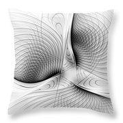 Fractal Design -bw 01-  Throw Pillow