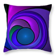 Fractal Design In Lilac, Pink And Blue Throw Pillow