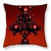 Fractal Deviations Throw Pillow