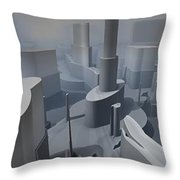 Fractal Factory Throw Pillow