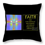 Fractal Faith Hebrews 11 Throw Pillow by Rose Santuci-Sofranko