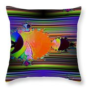 Fractal Fishy Throw Pillow