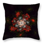 Fractal Floral 02-12-10-a Throw Pillow