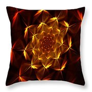 Fractal Floral 062610a Throw Pillow