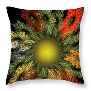 Fractal Floral 12-05-09 Throw Pillow