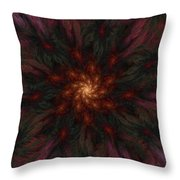 Fractal Floral Fantasy 02-13-10-b Throw Pillow