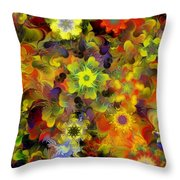 Fractal Floral Study 10-27-09 Throw Pillow