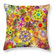Fractal Floral Study 2 Throw Pillow