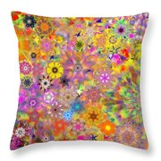 Fractal Floral Study 3 Throw Pillow