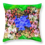 Fractal Flower Garden Throw Pillow