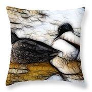 Fractal Friends Throw Pillow