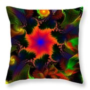 Fractal Garden 15 Throw Pillow