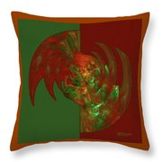 Fractal Grasp Throw Pillow