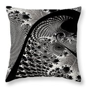 Fractal Japonica Throw Pillow