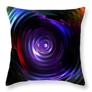 Fractal Lake Throw Pillow