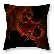 Fractal Mist Throw Pillow
