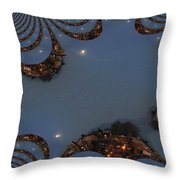Fractal Moon Throw Pillow