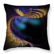 Fractal Of The Day Se02 Ep02 Wings Throw Pillow