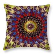 Fractal Outburst Catus 1 No. 10 - Sunsettia For Lea Throw Pillow