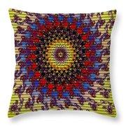 Fractal Outburst Catus 1 No. 10 -sunsettia For Lea V A Throw Pillow